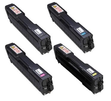 Ricoh  4064 Hi-Cap Toner Rainbow Pack CMY (6k) + Black (6.5k)