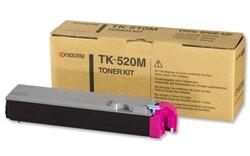 Kyocera 1T02HJBEU0 TK-520M Magenta Toner Cartridge (4000 Pages)