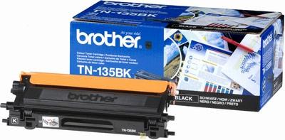 Brother TN135BK Black Toner Cartridge (5,000 Pages)