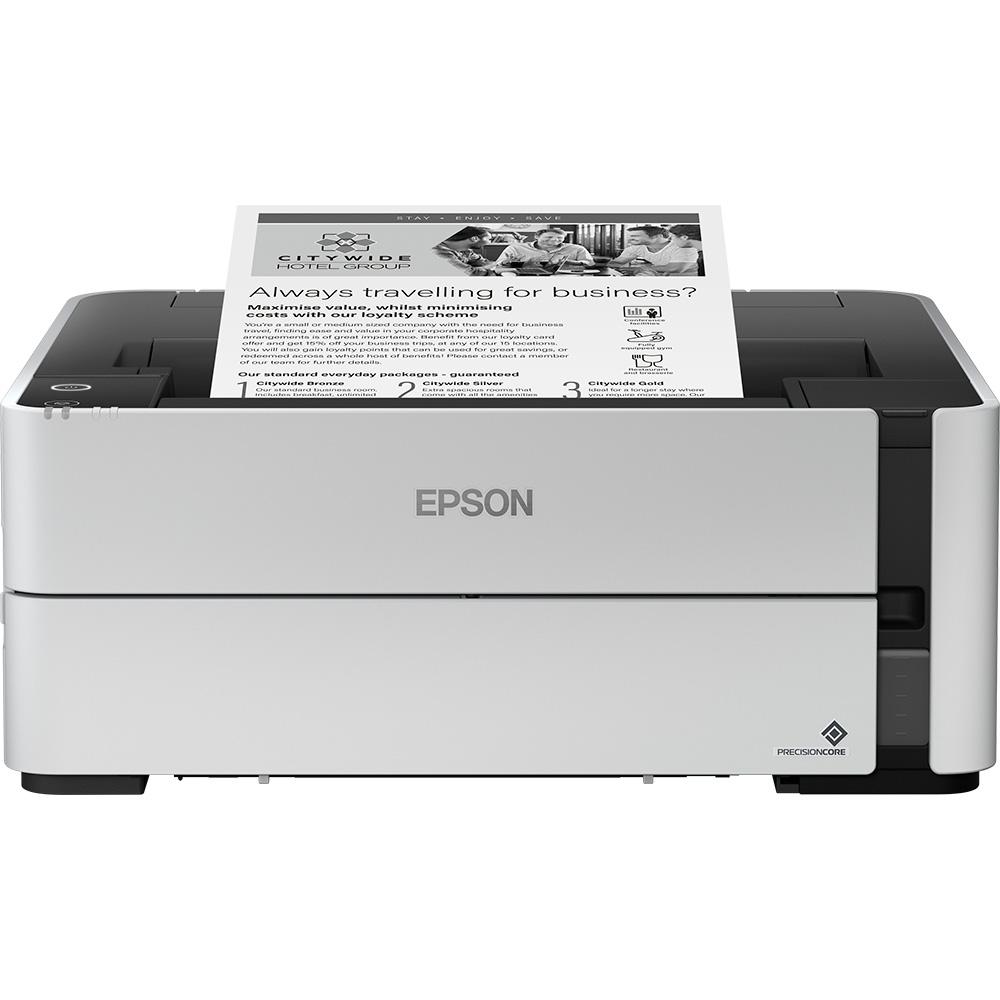 Epson EcoTank ET-M1180 + Black Ink Bottle (127ml) A4 Mono Inkjet Printer