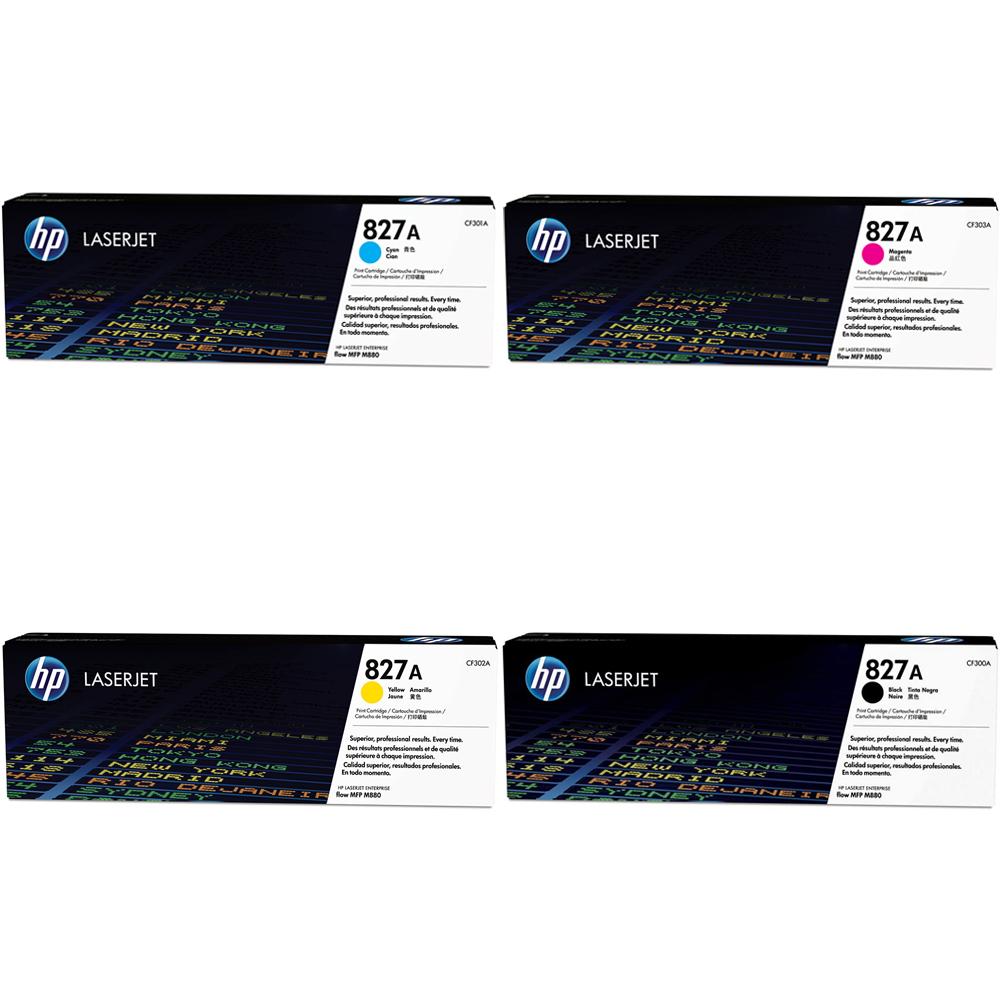 Hp 827a Toner Rainbow Pack Cmy 32k K 29 5k