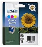 Epson (Cyan/Magenta/Yellow) T018 3 Colour Ink Cartridge