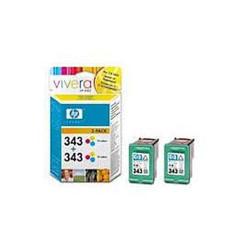 HP No.343 Tri-colour Inkjet Print Cartridge (2-pack)