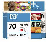 HP No.70 Matte Black/Red Printhead