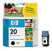 HP No.20 Black Ink Cartridge