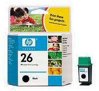 HP No.26 Black Ink Cartridge (40ml)