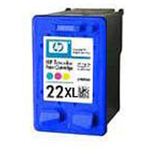 HP No.22XL Tri-Colour Inkjet Print Cartridge