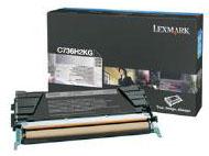Lexmark 0C736H2KG Black High Yield Toner Cartridge (12,000 Pages)