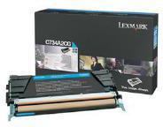 Lexmark 0C734A2CG Cyan Toner Cartridge (6,000 Pages)
