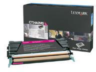 Lexmark 0C734A2MG Magenta Toner Cartridge (6,000 Pages)