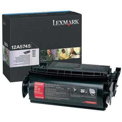 Lexmark 12A5745 High Capacity Black Toner Cartridge (25,000 Pages)