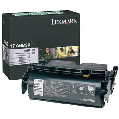Lexmark 12A6839 High Capacity Return Program Black Toner Cartridge (25,000 Pages) for Label Applications