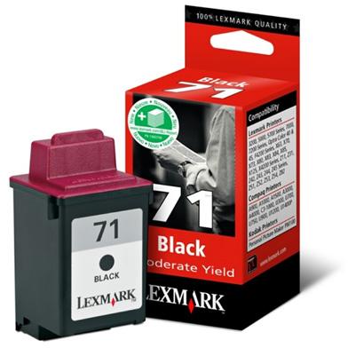 Lexmark 15MX971E 71 Black Ink Cartridge (225 Pages)
