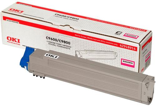 OKI 42918914 Magenta Toner Cartridge (15,000 pages)