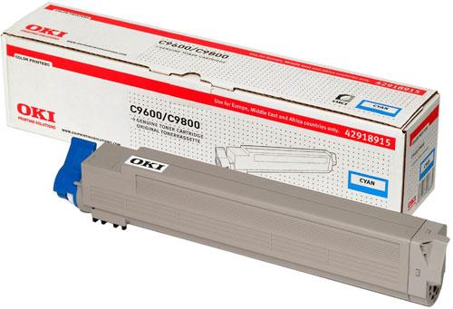 OKI 42918915 Cyan Toner Cartridge (15,000 pages)
