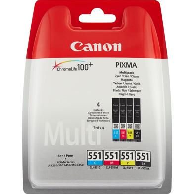 Canon 6509B009 CLI-551 Ink Cartridge Multipack (CMYK)