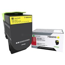 Lexmark 71B0040 Yellow Toner Cartridge (2,300 pages)