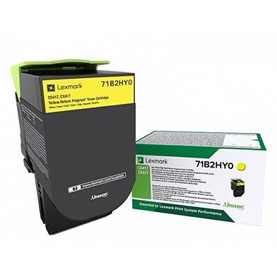 Lexmark Yellow Return Programme Toner Cartridge (3,500 pages)