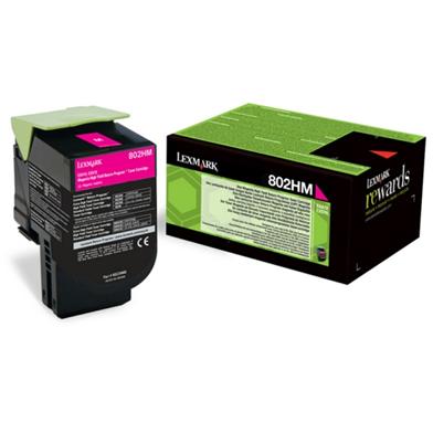 Lexmark 80C2HME High Yield Magenta Toner Cartridge (3,000 Pages)
