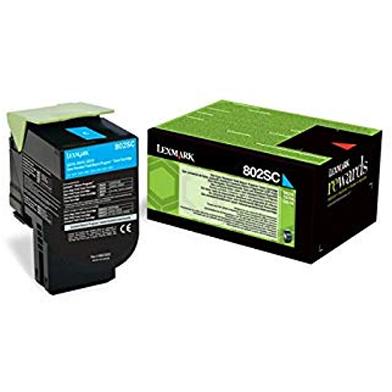 Lexmark 80C2SCE Cyan Toner Cartridge (2,000 Pages)