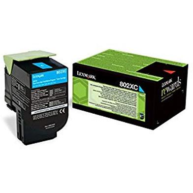 Lexmark 80C2XCE Extra High Capacity Cyan Toner Cartridge (4,000 Pages)