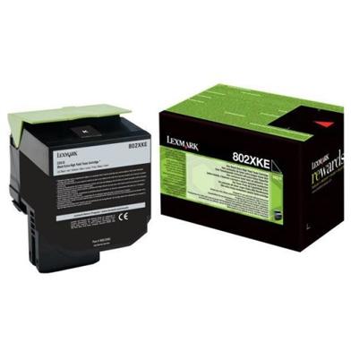 Lexmark 80C2XKE Extra High Capacity Black Toner Cartridge (8,000 Pages)