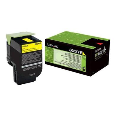 Lexmark 80C2XYE Extra High Capacity Yellow Toner Cartridge (4,000 Pages)