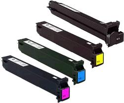 Konica Minolta  A0D7 Toner Rainbow Pack CMY (20,000 pages) + Black (26,000 pages)