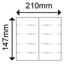 OKI Pre-creased place setting 250gsm (10 per A4 Sht) (10 Shts)