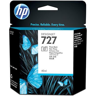 HP 727 Photo Black DesignJet Ink Cartridge (40ml)