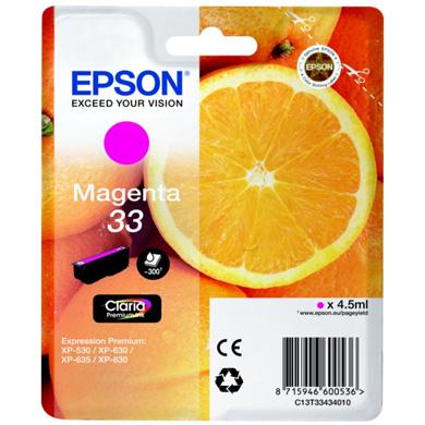 Epson Magenta No.33 Claria Premium Ink