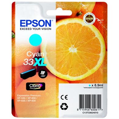 Epson Cyan No.33XL Claria Premium Ink