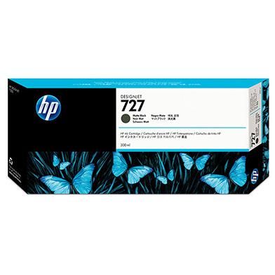 HP 727 Matte Black DesignJet Ink Cartridge (300ml)