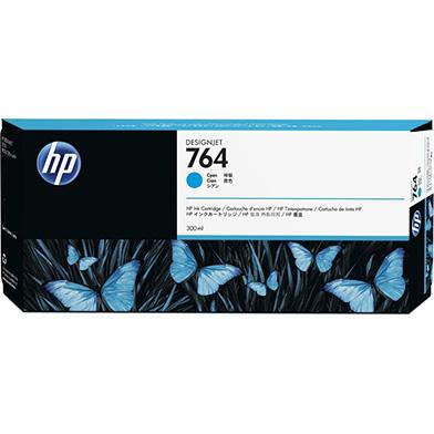 HP 764 Cyan DesignJet Ink Cartridge (300ml)