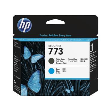 HP 773 Matte Black & Cyan Designjet Printhead