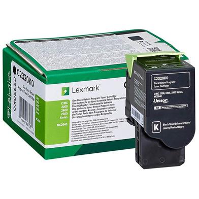 Lexmark C2320K0 Black Return Programme Toner Cartridge (1,000 Pages)