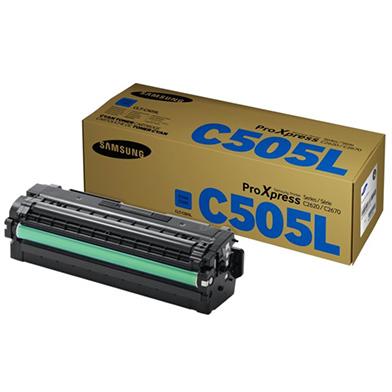 Samsung SU035A CLT-C505L Cyan Toner Cartridge (3,500 Pages)