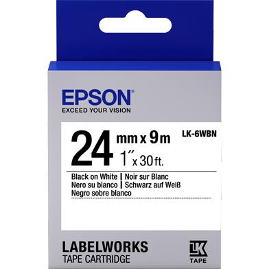 Epson LK-6WBN Standard Label Cartridge (Black/White) (24mm x 9m)