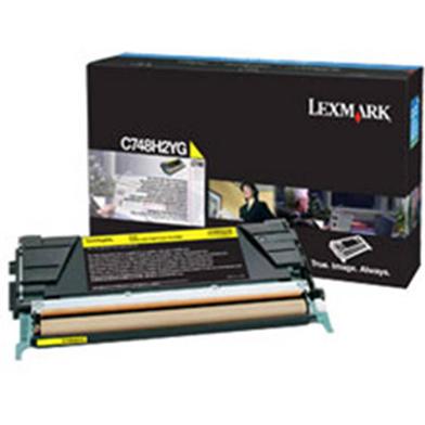 Lexmark C748H2YG C748H2YG Yellow High Yield Toner Cartridge (10,000 Pages)
