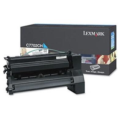 Lexmark C7702CH High Yield Cyan Toner Cartridge (10,000 Pages)
