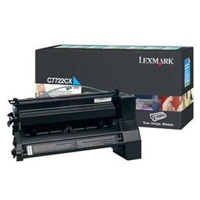 Lexmark C7722CX Cyan Extra High Capacity Toner Cartridge (15,000 Pages)