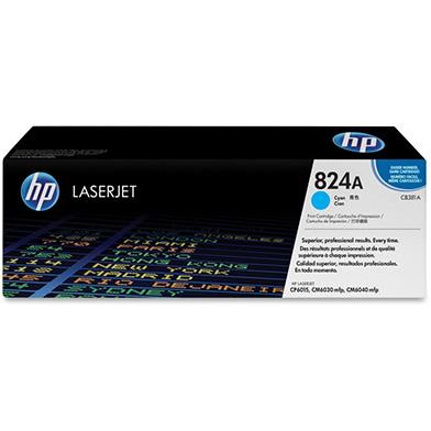 HP CB381A 824A Cyan Colour LaserJet Print Cartridge with ColourSphere Toner (Yield 21,000)