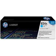 HP 824A Cyan Colour LaserJet Print Cartridge with ColourSphere Toner (Yield 21,000)
