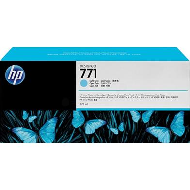 HP No. 771 Light Cyan Ink Cartridge (775ml) for DesignJet Printers