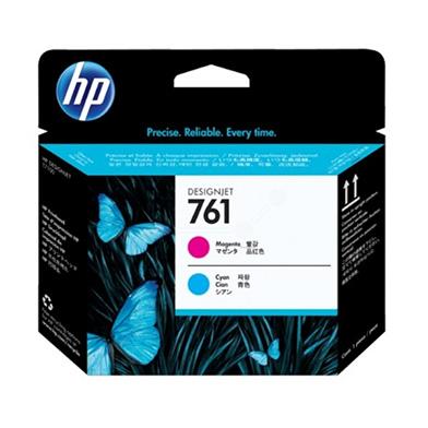 HP 761 Magenta and Cyan Printhead