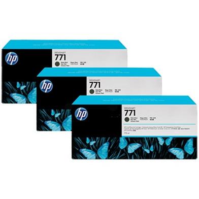 HP No. 771 Matte Black Ink Cartridge 775ml (3-Pack) for DesignJet Printers