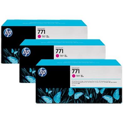 HP No. 771 Magenta Ink Cartridge 775ml (3-Pack) for DesignJet Printers