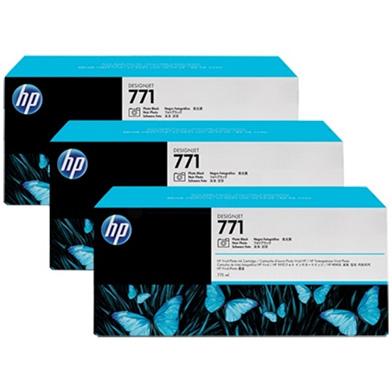 HP No. 771 Photo Black Ink Cartridge 775ml (3-Pack) for DesignJet Printers