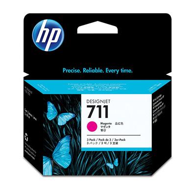 HP 711 Magenta Ink Cartridge (29ml) 3 Pack