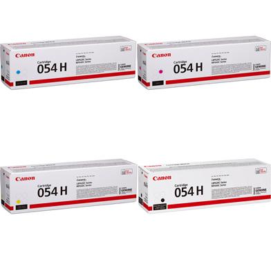 Canon 054H Toner Cartridge Value Pack CMY (2.3K Pages) K (3.1K Pages)